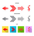 isolated object of element and arrow logo vector image vector image
