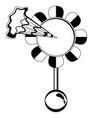 joke squirt flower silhouette vector image vector image