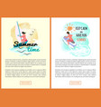 keep calm and have fun summer sea adventures set vector image vector image
