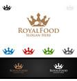 king food logo for restaurant or cafe vector image vector image