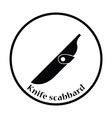 Knife scabbard icon vector image vector image