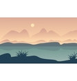 Landscape hill and river of silhouette vector image vector image
