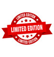 limited edition ribbon limited edition round red vector image vector image