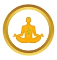Man in lotus position icon vector image