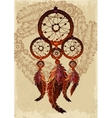Native american indian traditional dream catcher vector image