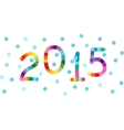 new year 2015 background banner vector image