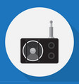 of tech symbol on radio flat vector image