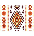 oriental mosaic rug with traditional folk vector image