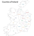 Outline Ireland map vector image