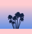 palms tropical landscape rose quartz vector image vector image