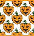 pumpkin for helloween seamless pattern vector image vector image