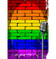 rainbow musical event poster grunge vector image vector image