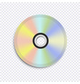 realistic cd disk on transparent background vector image vector image