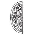 renaissance elliptic panel is a german design vector image vector image