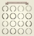 set laurel wreaths in heraldic style vector image vector image