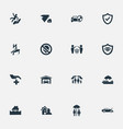 set of simple guarantee icons vector image vector image