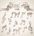 Set of vintage music symbols vector image