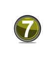 seven logo design template vector image