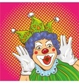 Smiling clown cartoon character vector image vector image