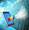 Stock exchange on mobile vector image vector image