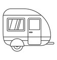 travel trailer icon outline style vector image vector image