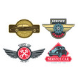 vintage or retro signs for car repair services vector image