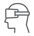 virtual reality glasses line icon electronic vector image vector image