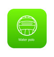 water polo icon green vector image