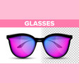 woman female glasses hipster frame cool vector image