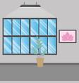 yoga room interior vector image