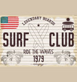 retro grunge surfing poster vector image