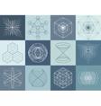 Sacred geometry symbols and elements set vector image