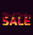 3d inscription of the black friday sale made of vector image vector image