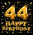 44 years anniversary happy birthday joy vector image