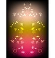 Abstract background with flowers Eps10 vector image vector image
