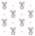 artoon mouse seamless pattern vector image