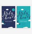 baby shower set star boy and space theme vector image vector image