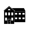 big house and many windows pictogram vector image