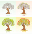 big tree seasons vector image vector image