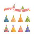 birthday cap celebration decorative symbols party vector image vector image