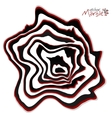Black red and white marble style abstract vector image