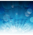 Blue sky sun light burst blue sky background with
