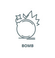 bomb line icon linear concept outline vector image vector image
