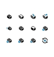 Box duotone icons on white background vector image vector image