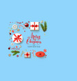 boxes blue holiday christmas vector image vector image