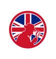 british private investigator union jack flag icon vector image vector image