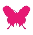 butterfly silhouette icon vector image vector image
