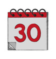 calendar event isolated vector image vector image