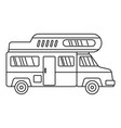 camping truck icon outline style vector image vector image