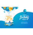 celebrating 75th years birthday vector image vector image